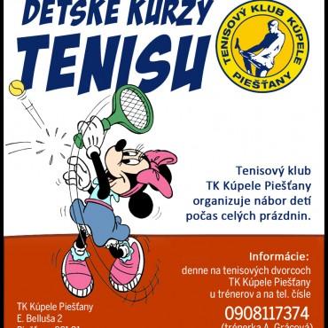 Detské kurzy tenisu