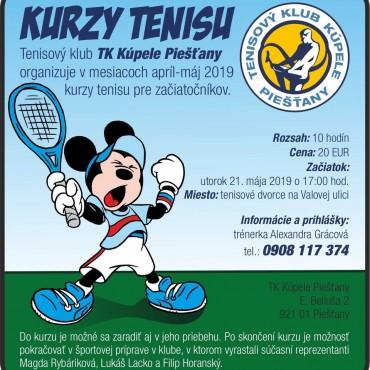 Kurzy tenisu pre začiatočníkov máj – jún 2019